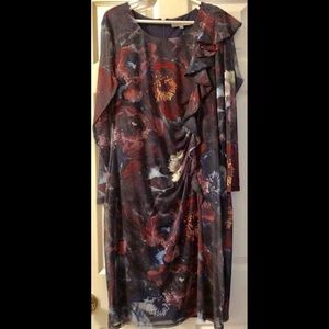 Cleo Beautiful Floral Sheer Sleeved Dress